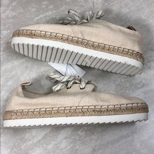 NWT Joelle Cream Espadrille Sneakers